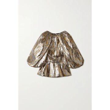 Dries Van Noten - Silk-blend Lame Blouse - Silver