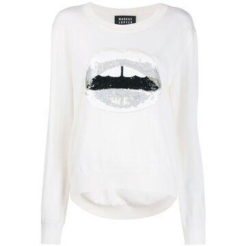 sequin lips sweater