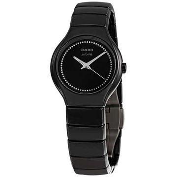 Rado Women's R27655732 'True ' Diamond Black Ceramic Watch (8 Inch - Stainless Steel - 30 Meters - Sapphire - Three Hand - Black - New - Analog -
