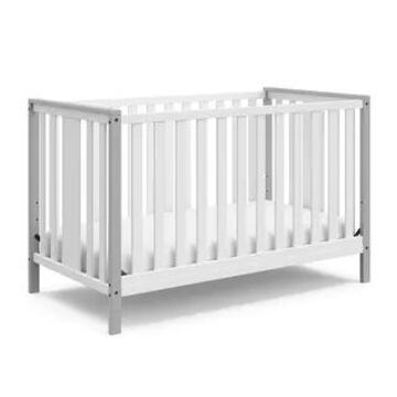 Storkcraft Modern Pacific 4-in-1 Convertible Crib (Pebble Gray)