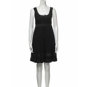 Scoop Neck Mini Dress Black