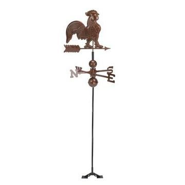 Northlight 3' Polished Rooster Outdoor Garden Weathervane - Chocolate Brown