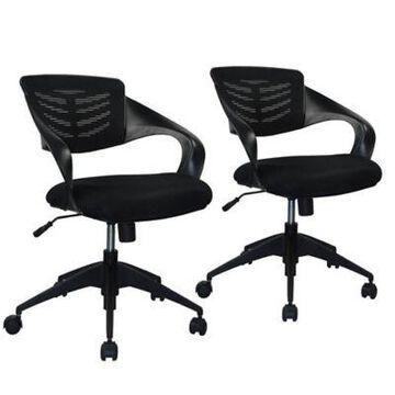Manhattan Comfort Grove Chairs in Black (Set of 2)