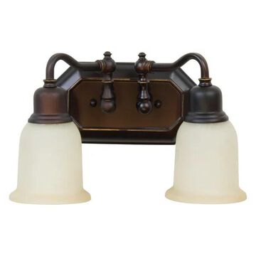 Craftmade 15813OBG2 Heritage 2 Light Vanity In Oil Rubbed Gilded
