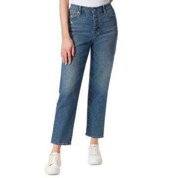 Jessica Simpson Throwback High-Rise Straight-Leg Jeans