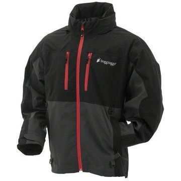 Frogg Toggs Pilot II Guide Waterproof Rain Jacket, Compatible w/ Frogg Toggs Co-Pilot Puff Jacket & Vest Liners, Black/Charcoal Gray, Size X-Large