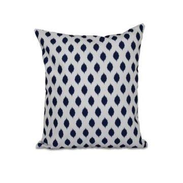 16 Inch Navy Blue Decorative Geometric Throw Pillow