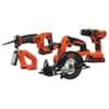 BLACK+DECKER 20-Volt 4-Tool Power Tool Combo Kit (2-Batteries Included and Charger Included)