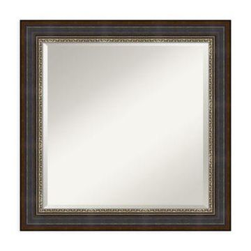 Amanti Art Veneto 25-Inch Square Vanity Mirror in Black