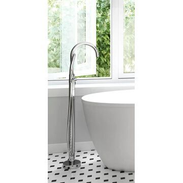 Jacuzzi PRIMO Polished Chrome 1-Handle Residential Freestanding Bathtub Faucet with Hand Shower   NW50827