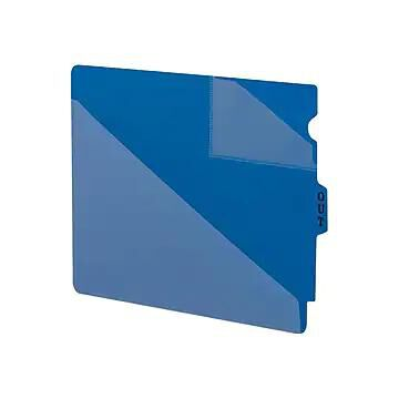 Smead End Tab Outguides, Two Pockets, Letter Size, Blue, 50/Box (61961)