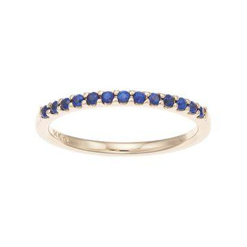 Boston Bay Diamonds 14k Gold Sapphire Stack Ring