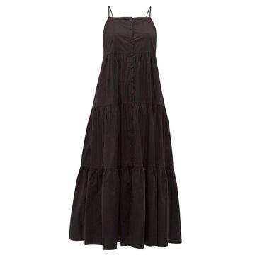 Sea - Luna Tiered Cotton-blend Midi Dress - Womens - Black