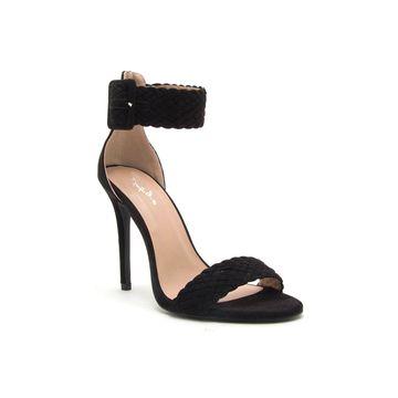 Qupid Womens Dezi 81 Heeled Sandals