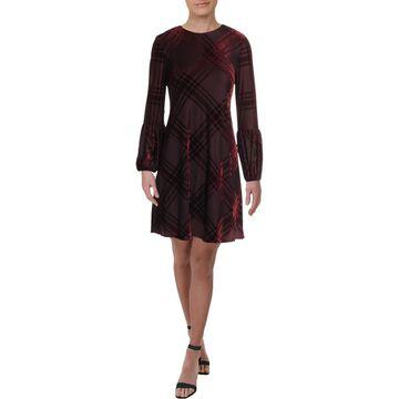 Taylor Womens Striped Mini Cocktail Dress