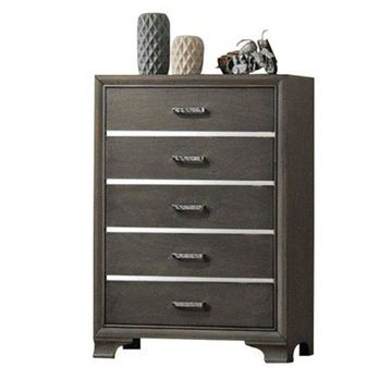 Acme Furniture Carine Charcoal Chest with Five Drawers