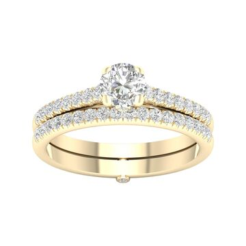 De Couer 5/8ct TDW Diamond Bridal Set - Yellow
