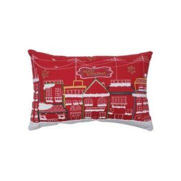 Pillow Perfect Skyline Christmas Lumbar Pillow