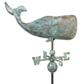 Good Directions Whale Weathervane in Blue Verde Copper
