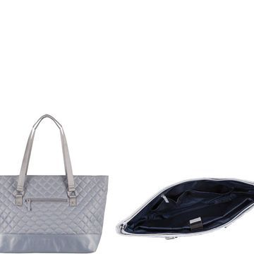 Lodis Quilted Nylon Laptop Tote Bag