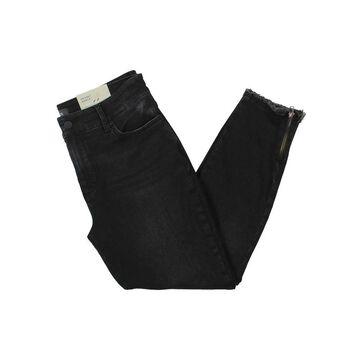 NYDJ Womens Petites Skinny Jeans Ankle Distressed