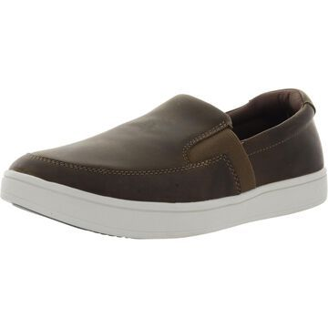 Drew Mens Jump Slip-On Sneakers Leather Casual