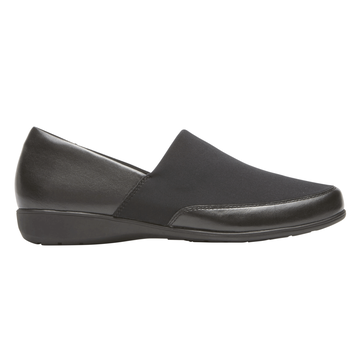 Aravon Womens Abbey A-Line Slip-On Shoes - Size 6.5 2E Black