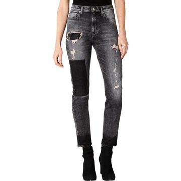 Calvin Klein Jeans Womens Straight Leg Jeans Denim High Rise