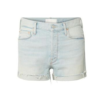 Mother - The Proper Distressed Denim Shorts - Light denim