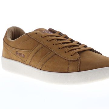 Gola Aztec Nubuck Mens Brown Retro Lace Up Low Top Sneakers Shoes