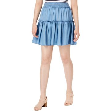 maison Jules Womens Pull-On Tiered Skirt