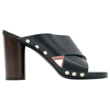By Malene Birger Black Leather Mules & Clogs