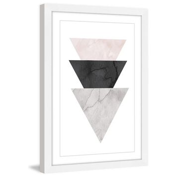 Marmont Hill - Handmade Triangle Stack Framed Print