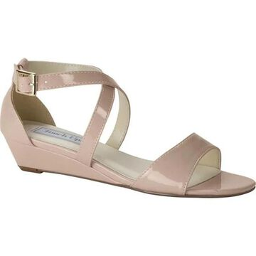 Touch Ups Women's Shyla Wedge Sandal Nude Patent