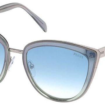 Emilio Pucci EP0092 86X Womenas Sunglasses Grey Size 55