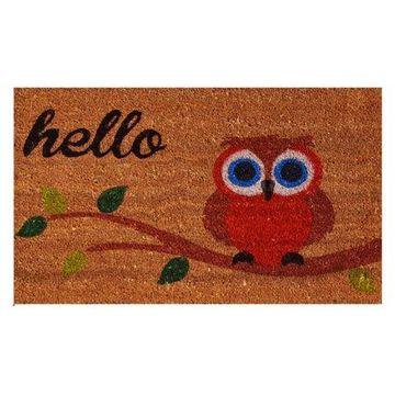 Home & More Owl Hello Doormat