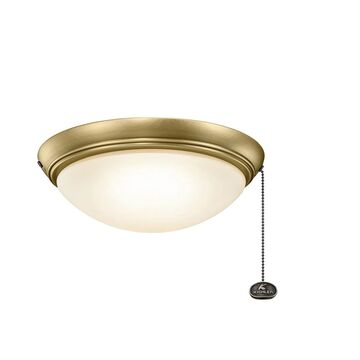 Kichler Accessories Low Profile LED Ceiling Fan Light Kit in Natural Brass