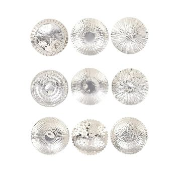 Studio 350 Stainless Steel Wall Platter Set of 9 16 inches D (As Is Item)