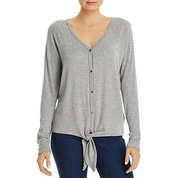 Three Dots Tie-Front Sweater