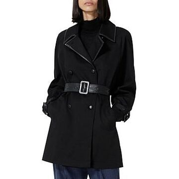 The Kooples Belted Double Breasted Trench Coat