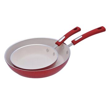 Hamilton Beach 2-pc. Porcelain Enamel Frypan Set