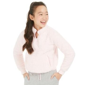 Ideology Big Girls Sherpa 1/4-Zip Jacket, Created for Macy's