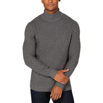 Tasso Elba Mens Cable Knit Turtleneck Sweater