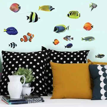RoomMates RMK3899SCS Tropical Fish - Self-Adhesive Repositionable Viny
