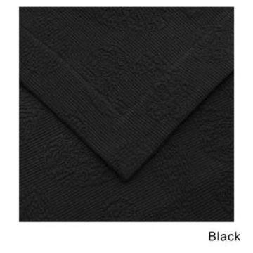 Superior Jacquard Matelasse Paisley Cotton Bedspread Set (Black - King)