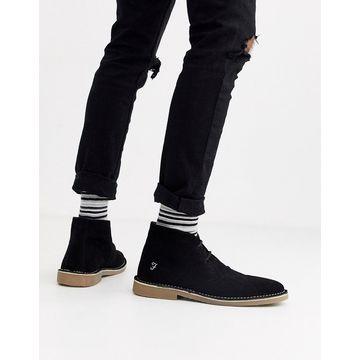 Farah suede desert boot in black