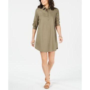 Karen Scott Mini Cotton Shirt Dress, Created for Macy's
