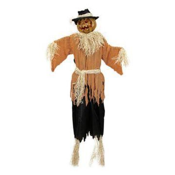 Northlight 6' Jack-O'-Lantern Scarecrow Halloween Decoration in Orange