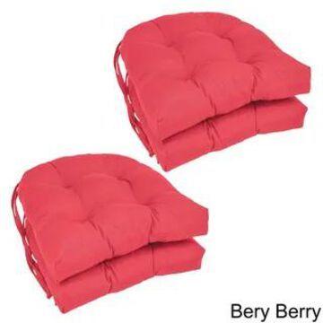 Blazing Needles U-shaped 16-inch Dining Chair Cushions (Set of 4) - 16 X 16 (Bery Berry)