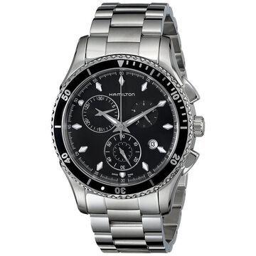 Hamilton Men's H37512131 Seaview Stainless Steel Chronograph Watch (Black)